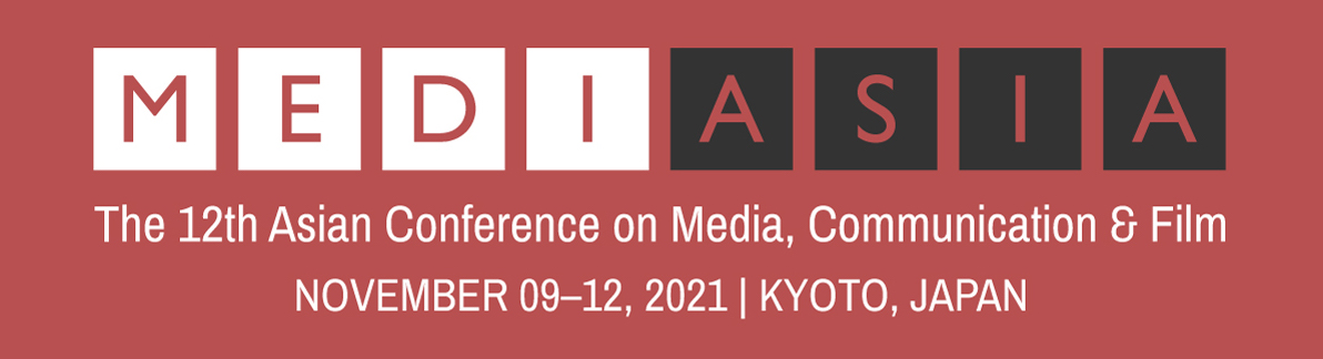 The 12th Asian Conference on Media, Communication & Film (MediAsia2021) Logo